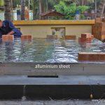 wood fired oven aluminium sheet layer