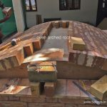 wood fired oven arched roof
