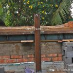 wood fired oven arched roof steel harness