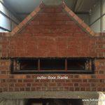 wood fired oven door frame