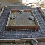 wood fired oven footing reinforcement