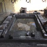 wood fired oven concrete footing