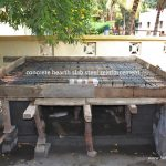 wood fired oven hearth slab steel reinforcement